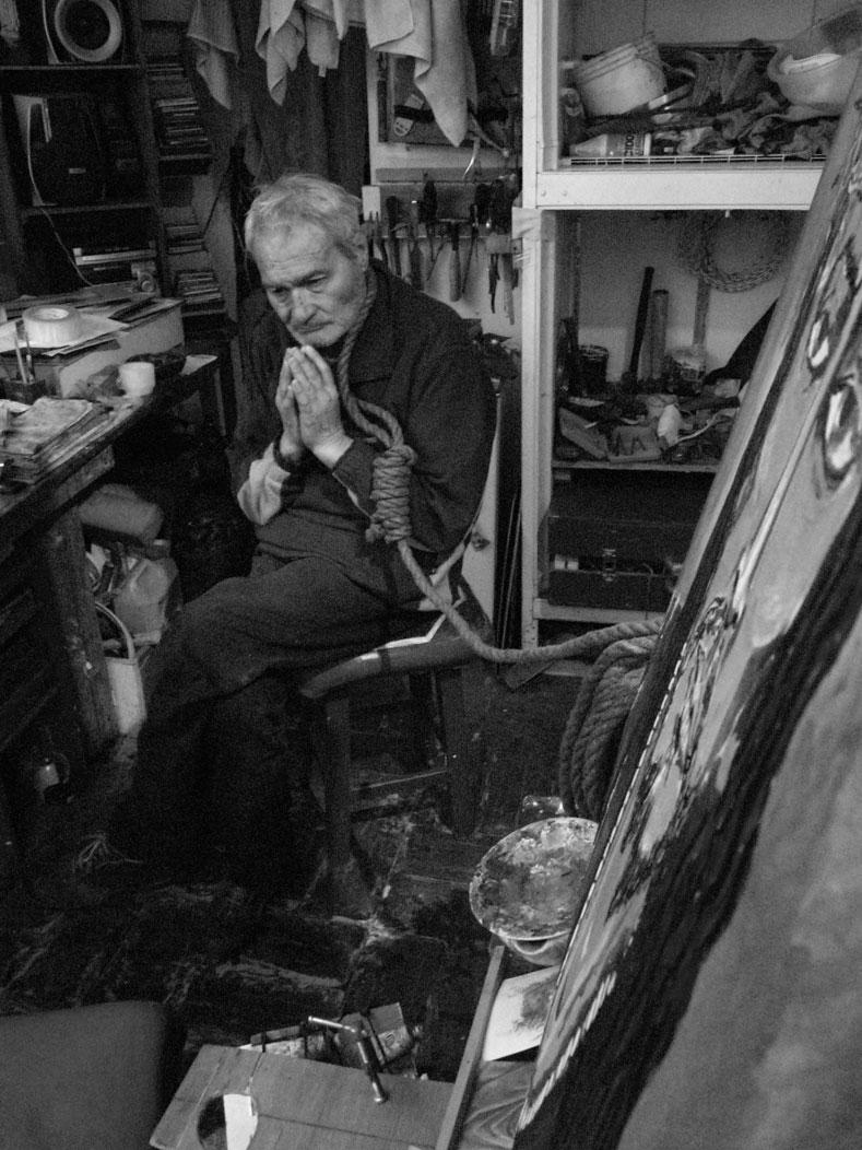 """""""A veces creo que ese que pinté no es nuestro señor sino un amuleto de la buena suerte y eso me da miedo. No quiero condenarme"""""""