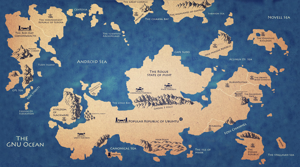 linux_world_map_by_fabianinostroza-d5xa079