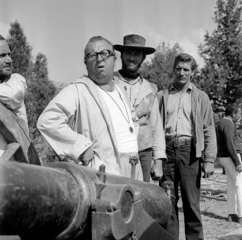 Sergio Leone, Clint Eastwood y Romano Puppo en Sad Hill (Contreras, Burgos 1966)