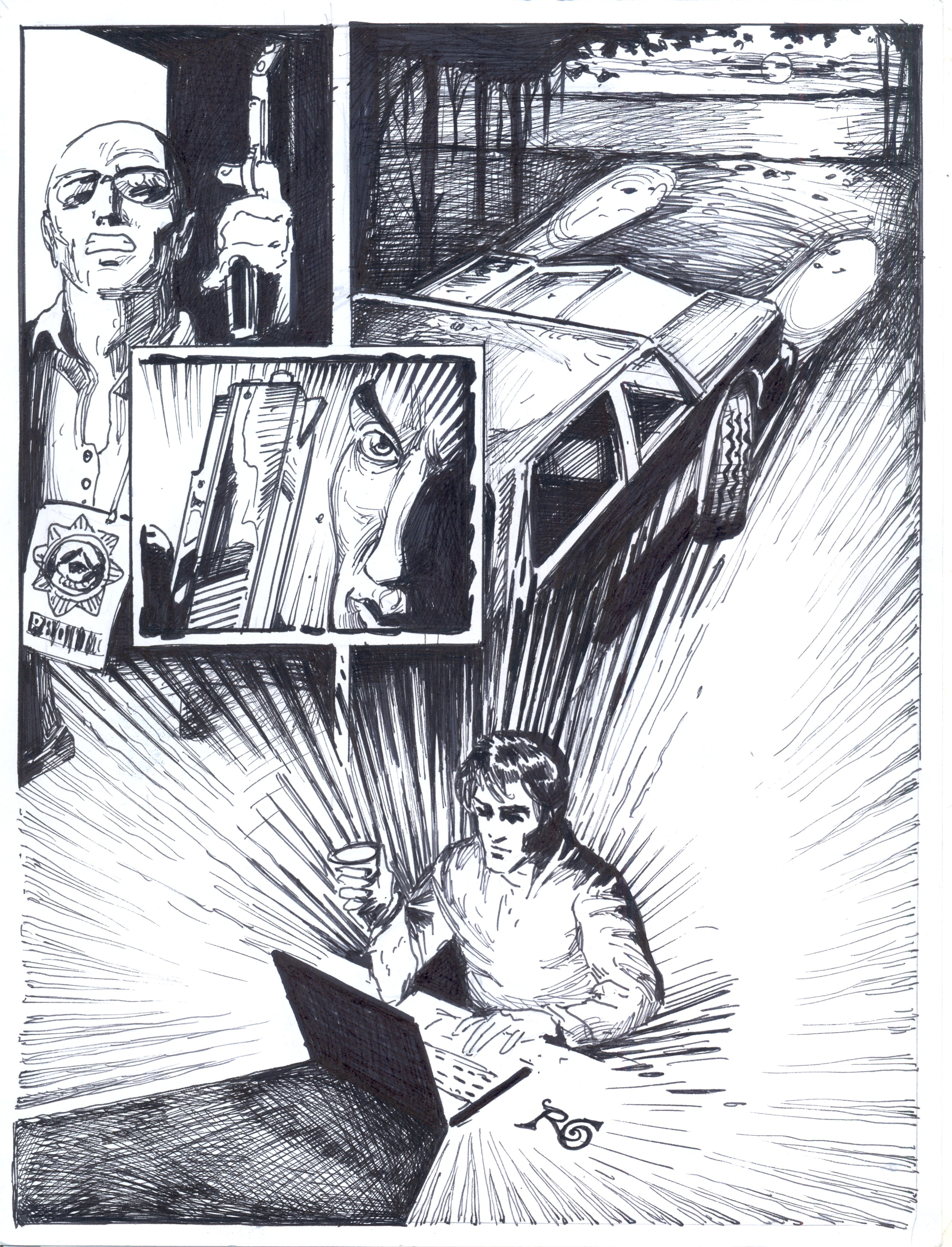 """Ilustración Roberto Rodríguez """"Hereje"""""""